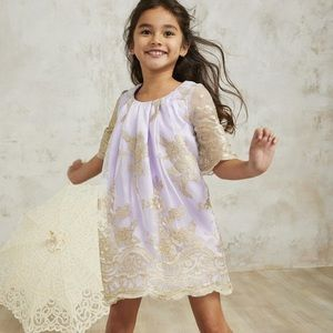CHASING FIREFLIES floral lace overlay dress 14/16